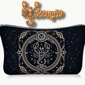 Astrology Scorpio Makeup Bag Black Zodiac